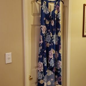 Flowered Hi-Low Dress